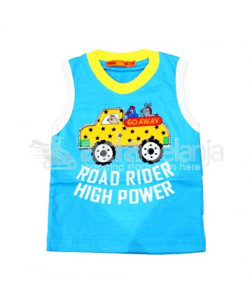 Hardi Kids Baju Sleeveless Warna Biru