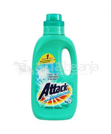 Attack Auto Deterjen Cair Double Clean Botol 1L