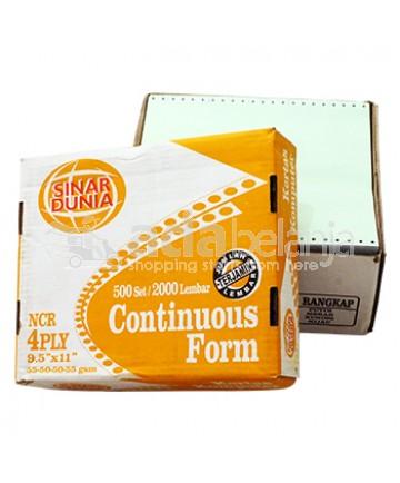 """Sinar Dunia Continuous Form Orange A4 (9,5"""" x 11"""") 4 Rangkap 500set x 2000"""