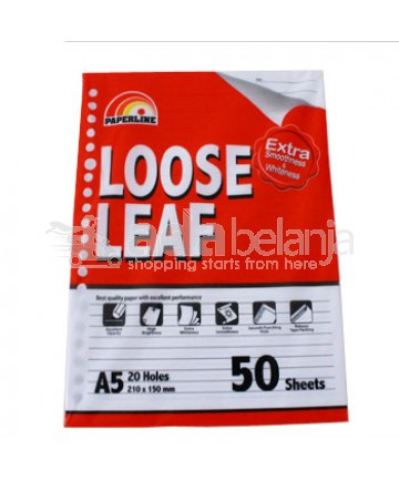 Paperline Loose Leaf Kertas A5 50 Lembar