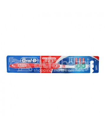 Oral-B Sikat Gigi All Rounder 123 Clean Soft Merah
