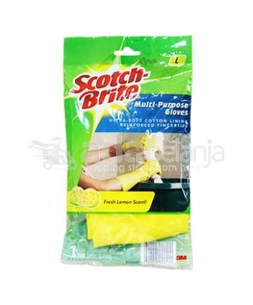 Scotch-Brite Sarung Tangan Serbaguna Aroma Lemon (L)