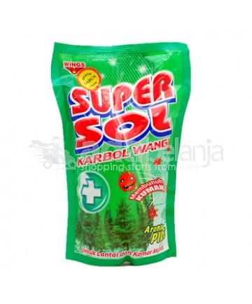 Super Sol Karbol Wangi Pine Pouch 800mL