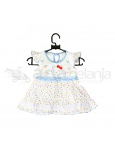 Nini Set Dress + Dalaman + Topi Hello Kitty Biru