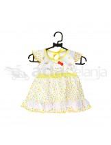 Nini Set Dress + Dalaman + Topi Hello Kitty Kuning