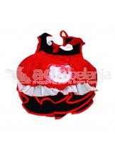 Nini Fashion Dress + Bawahan Gothic Hello Kitty Merah