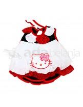 Nini Fashion Dress + Bawahan Gothic Hello Kitty Putih Merah