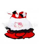 Nini Fashion Dress + Bawahan Gothic Hello Kitty Putih Hitam