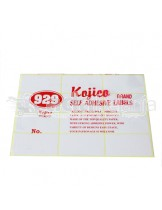 Kojico Self Adhesive Label 103 32x64 mm