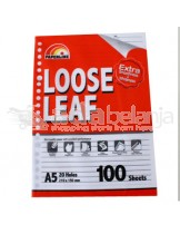 Paperline Loose Leaf Kertas A5 100 Lembar