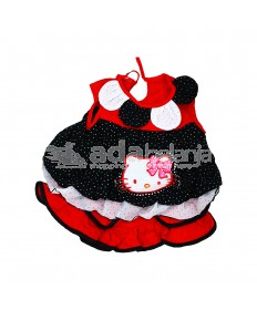 Nini Fashion Dress + Bawahan Gothic Hello Kitty Hitam