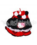 Nini Fashion Dress + Bawahan Gothic Hello Kitty Hitam