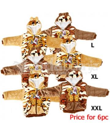 YiJiaBaoBei Jaket Bulu Motif Harimau 6pc