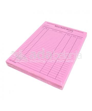 Kartu Stok Barang Pink 1 pak