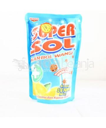 Super Sol Karbol Wangi Lemon Pouch 450mL