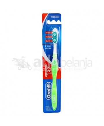 Oral-B Sikat Gigi All Rounder 123 Clean Medium Hijau