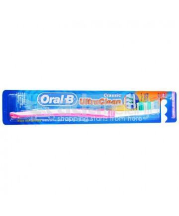Oral-B Sikat Gigi Ultra Clean Classic Soft Pink