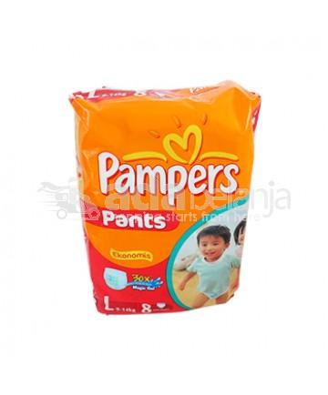 Pampers Popok Bayi Ukuran L isi 8