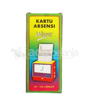 Wisper Kartu Absensi isi 100