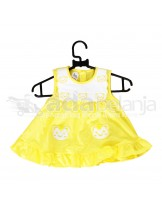 Nini Dress Border Beruang Kuning