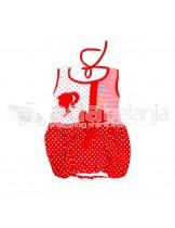 Nini Fashion Baju Balon Polkadot Garis Size S
