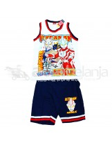 Set Baju Sleeveless + Celana Ultraman Ukuran No. 18