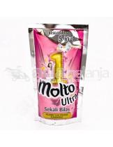 Molto Ultra Deterjen Cair Sekali Bilas Pink Pouch 900mL
