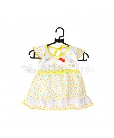 Nini Set Dress + Dalaman + Topi Hello Kitty Kuning