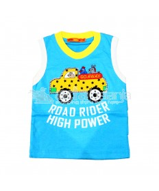 Hardi Kids Baju Sleeveless Warna Biru
